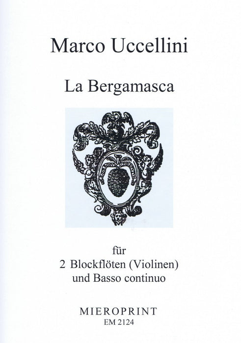 Uccellini: La Bergamasca for 2 Recorders or Violins and Basso Continuo