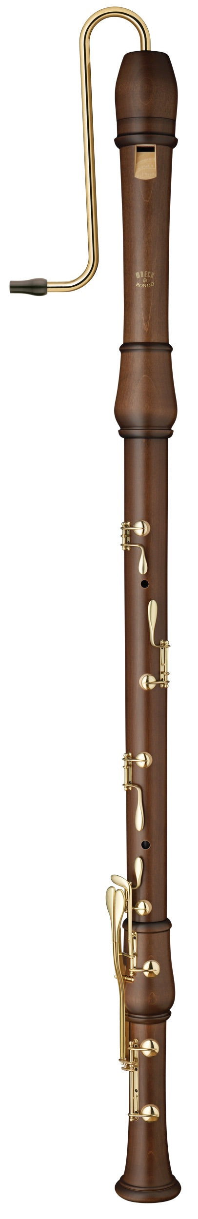 Moeck Flauto Rondo Great Bass Recorder in Stained Maple