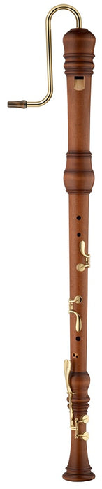 Moeck Rottenburgh Bass Recorder in Oiled, Stained Maple