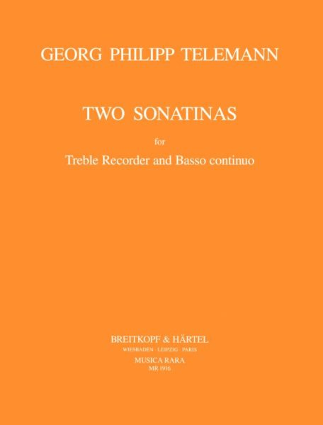 Telemann: 2 Sonatinas for Treble Recorder and Basso Continuo