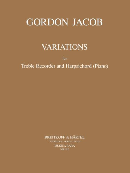 Jacob: Variations for Treble Recorder and Harpsichord or Piano