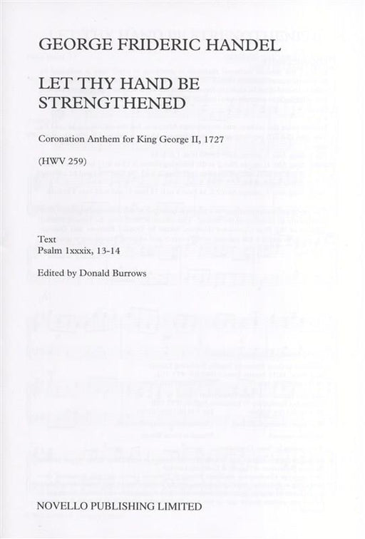 Handel: Let Thy Hand Be Strengthened