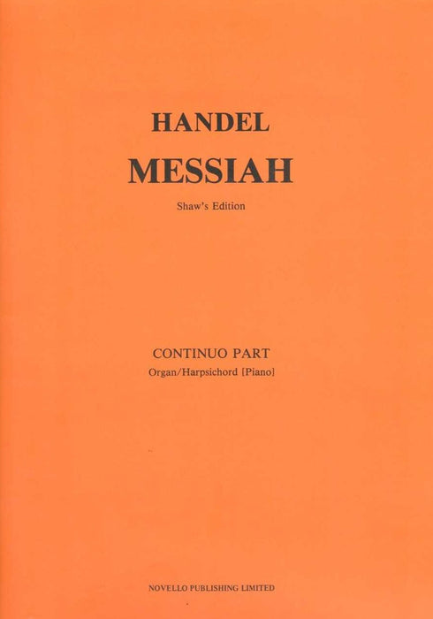 Handel: Messiah (Shaw's Edition) - Continuo Part