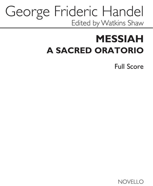Handel: Messiah - Full Score