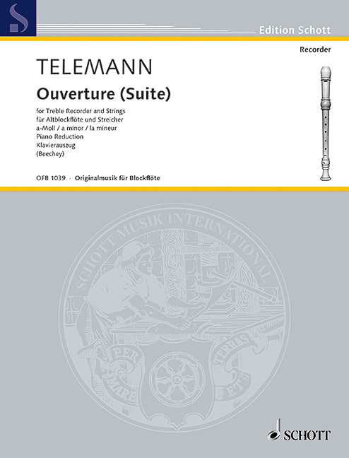 Telemann: Overture (Suite) in a minor for Treble Recorder and Strings