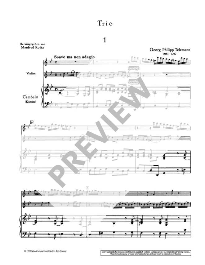 Telemann: Trio in g minor for Treble Recorder, Violin and Continuo