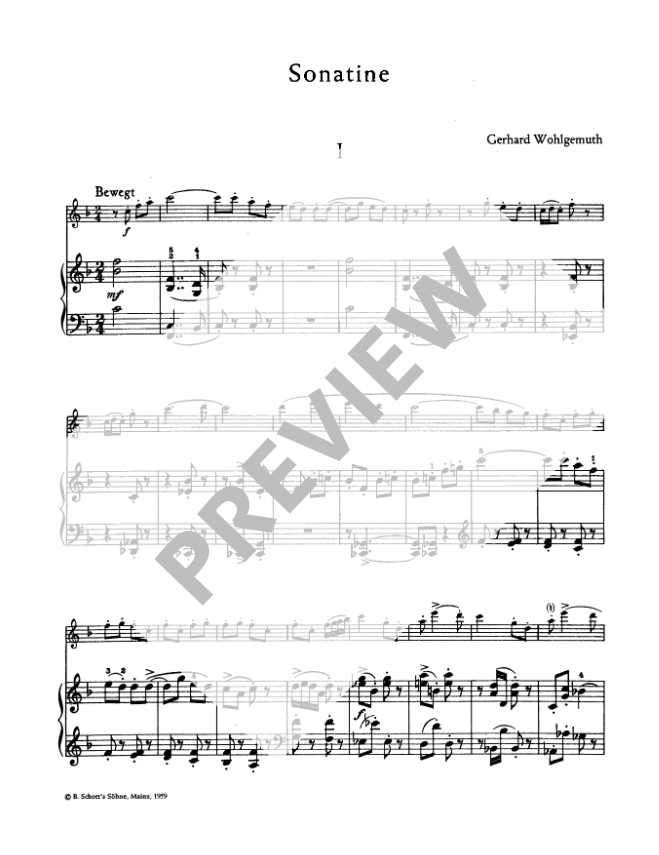 Wohlgemuth: Sonatina for Treble Recorder and Piano