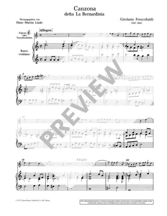 Various: Venetian Music about 1600 for Descant Recorder and Continuo