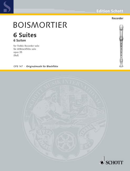 Boismortier: Six Suites for Treble Recorder Solo