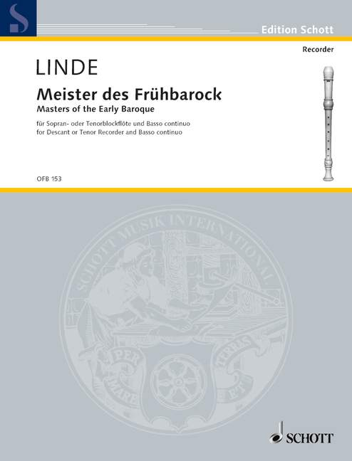 Linde (ed.): Masters of the Early Baroque for Descant or Tenor Recorder and Basso Continuo