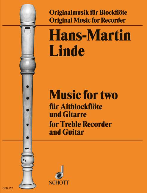 Linde: Music for Two for Treble Recorder and Guitar