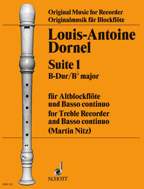 Dornel: Suite No. 1 in B Flat Major for Alto Recorder and Basso Continuo