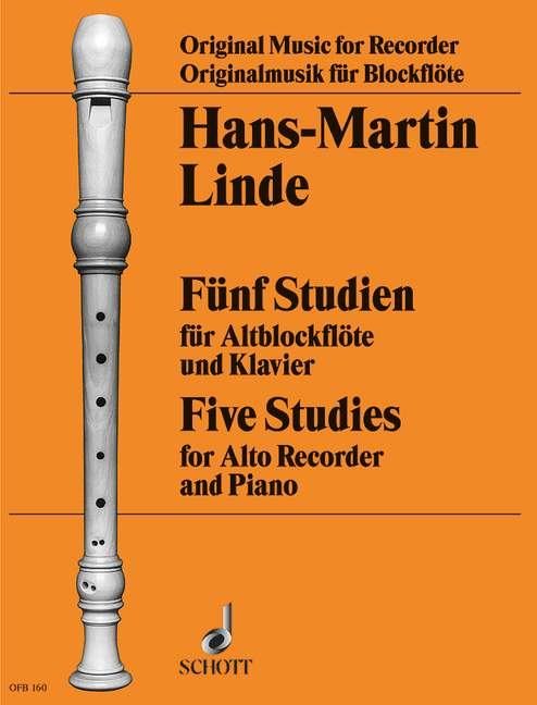 Linde: 5 Studies for Treble Recorder and Piano