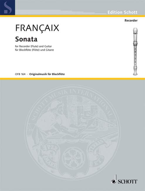 Françaix: Sonata for Recorder and Guitar