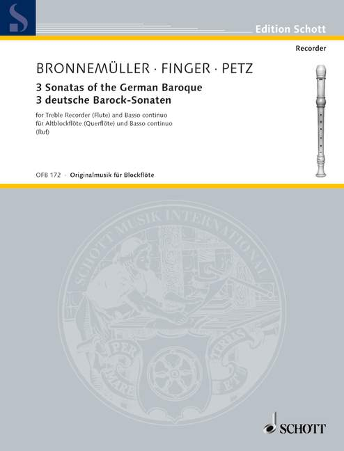 Various: 3 Sonatas of the German Baroque for Alto Recorder and Continuo