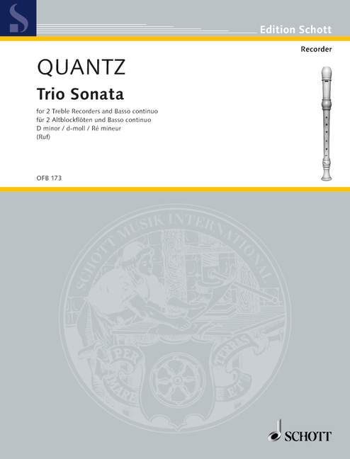 Quantz: Trio Sonata in D Minor for 2 Treble Recorders and Basso Continuo