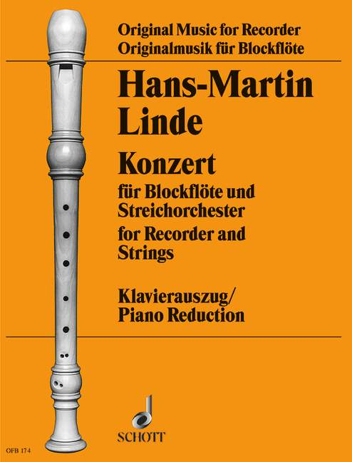 Linde: Concerto for Recorder and Strings - Piano Reduction