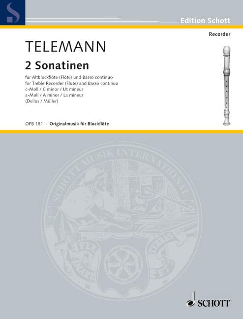 Telemann: 2 Sonatinas for Alto Recorder and Basso Continuo