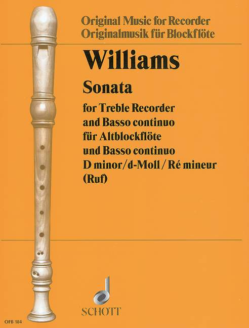 Williams: Sonata in D Minor for Treble Recorder and Basso Continuo