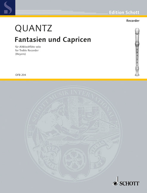 Quantz: Fantasias and Caprices for Treble Recorder Solo