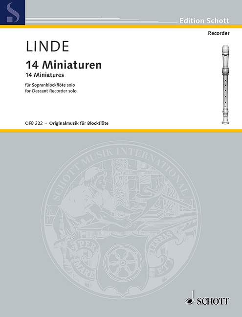 Linde: 14 Miniatures for Descant Recorder Solo