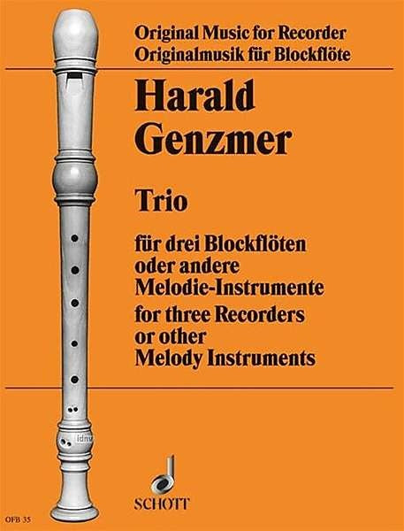 Genzmer: Trio for Recorders