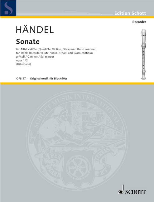 Handel: Sonata No. 2 In G Minor for Treble Recorder and Basso Continuo