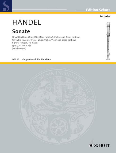 Handel: Sonata in F Major for Treble Recorder, Violin and Basso Continuo