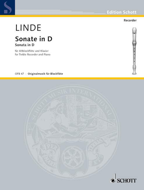 Linde: Sonata in D for Alto Recorder and Piano