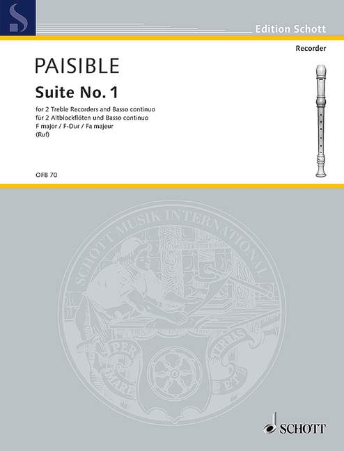 Paisible: Suite No. 1 in F Major for 2 Treble Recorders and Basso Continuo