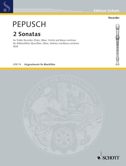 Pepusch: 2 Sonatas for Treble Recorder and Basso Continuo
