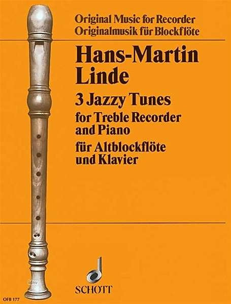Linde: 3 Jazzy Tunes for Treble Recorder and Piano