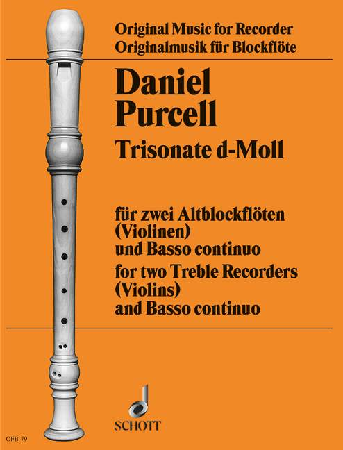 D. Purcell: Trio Sonata in D Minor for 2 Treble Recorders and Basso Continuo