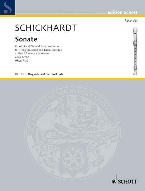 Schickhardt: Sonata in A Minor Op. 17/12 for Alto Recorder and Basso Continuo