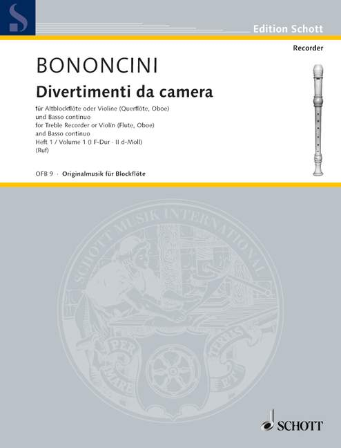 Bononcini: Divertimenti da Camera, Vol. 1