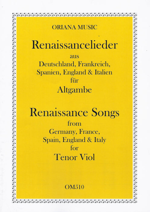 Various: Renaissance Songs for Tenor Viol
