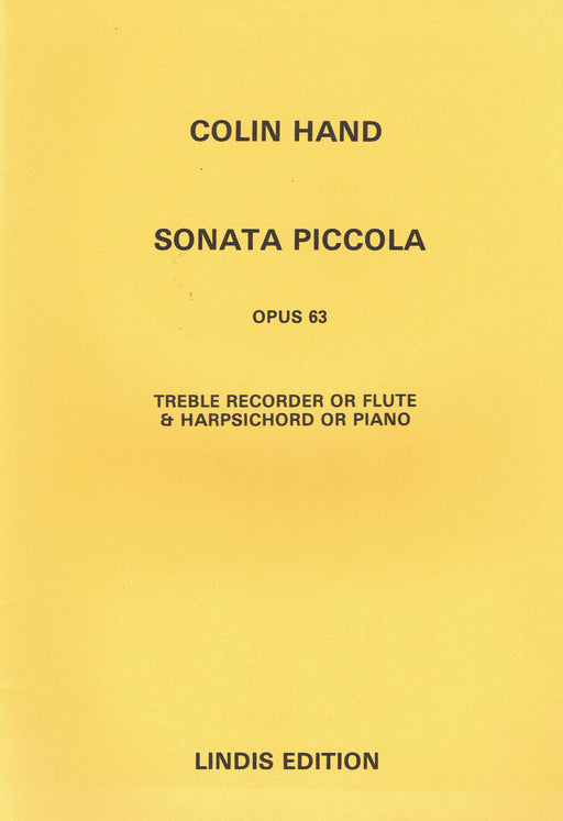 Hand: Sonata Piccola Op. 63 for Treble Recorder or Flute and Harpsichord or Piano
