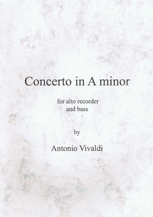 Vivaldi: Concerto in A Minor RV 108 for Treble Recorder and Keyboard