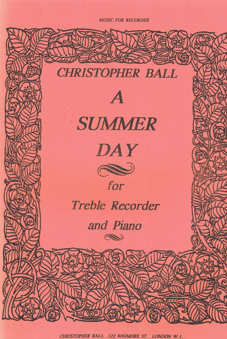 Ball: A Summer Day for Treble Recorder and Piano