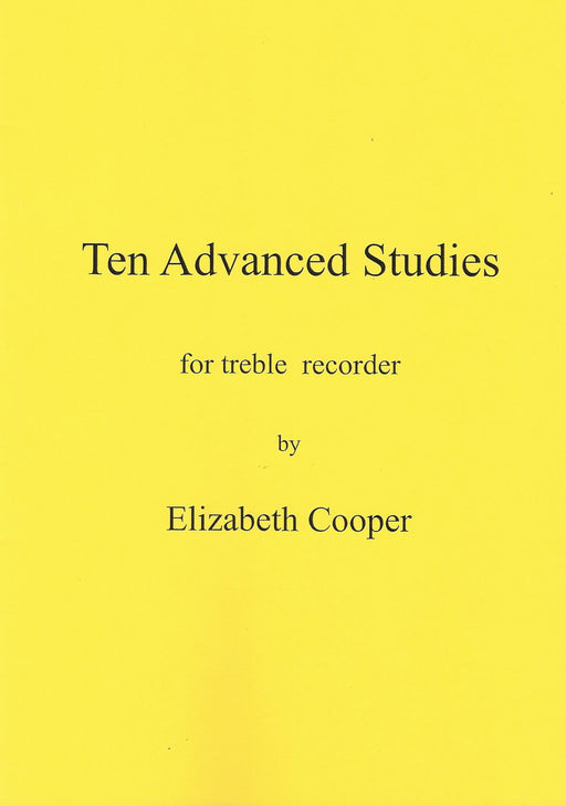Cooper: 10 Advanced Studies for Treble Recorder