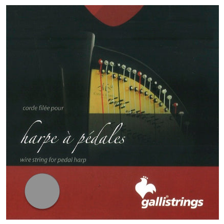 7th Octave D - Bass Wire Pedal Harp String by Galli Strings - CAM6FGA44