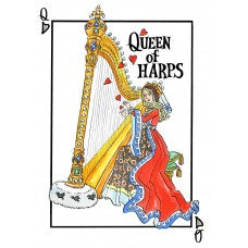 Queen of Harps Tea Towel
