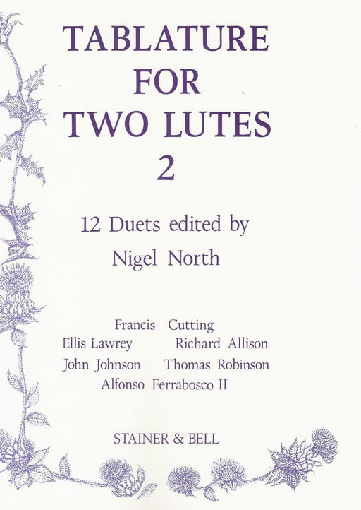 North (ed.): Tablature for 2 Lutes, Vol. 2