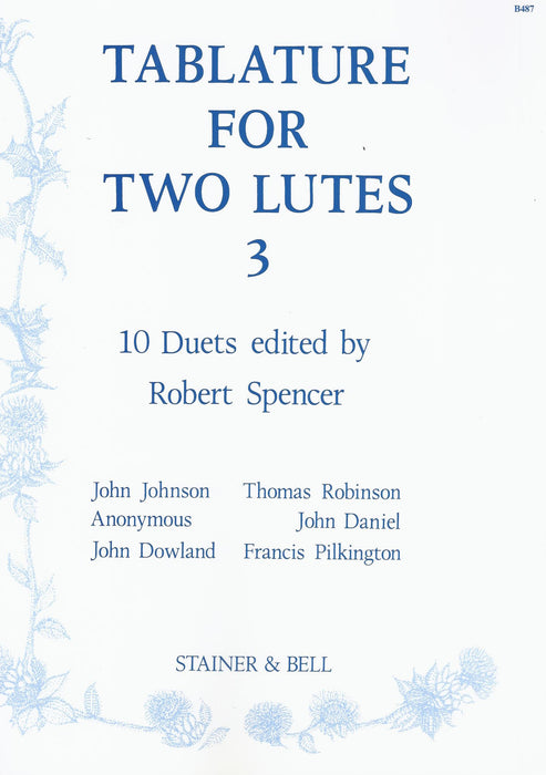 Spencer (ed.): Tablature for 2 Lutes, Vol. 3