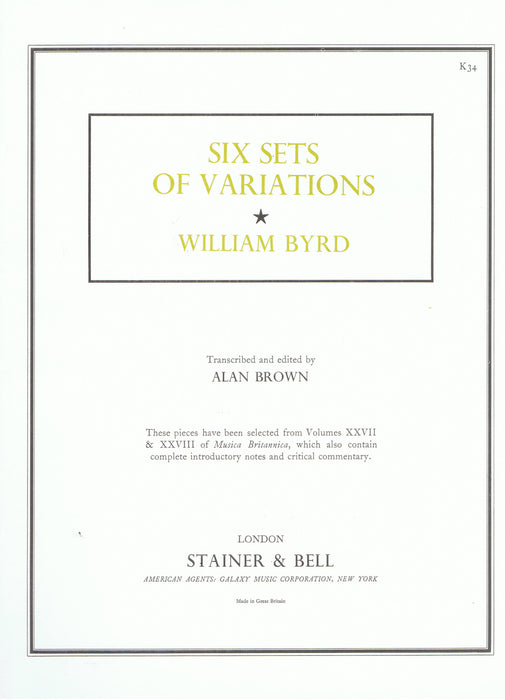 Byrd: Six Sets of Variations