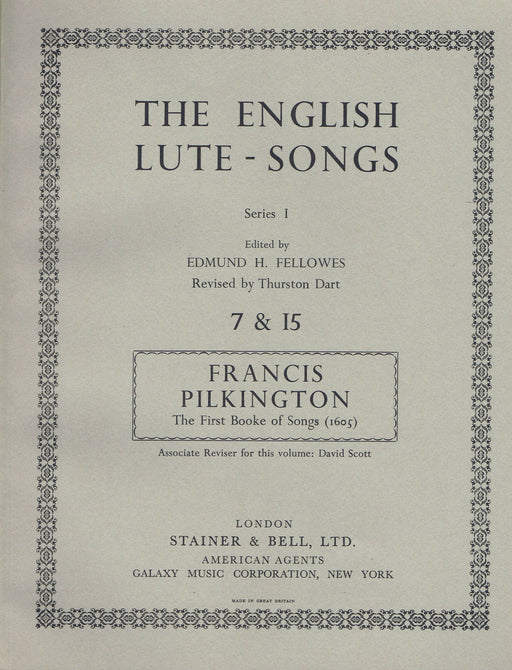 Pilkington: The First Booke of Songs (1605)
