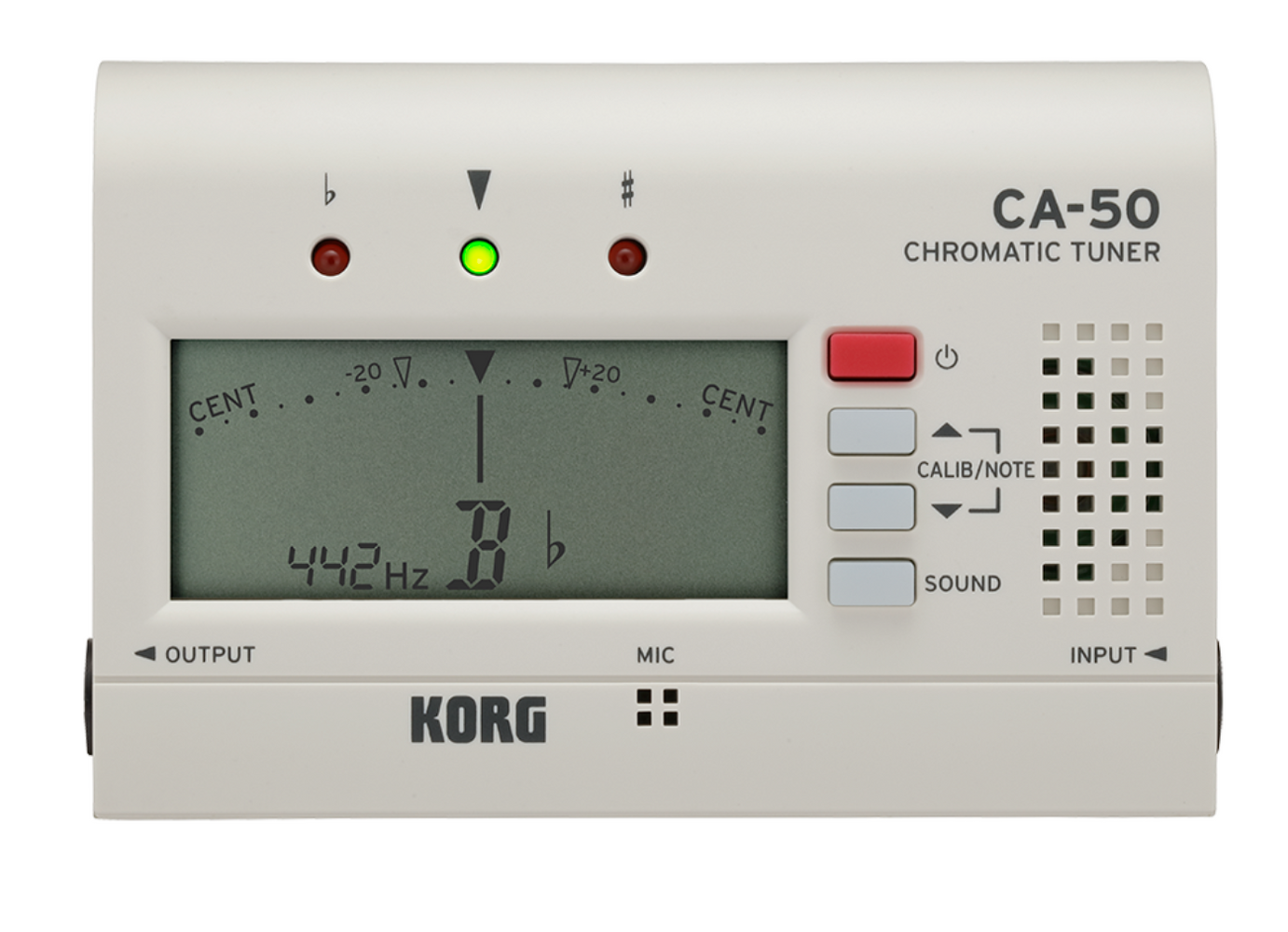 Korg CA50 Chromatic Tuner - features high-precision tuning functionality and a slim and compact design