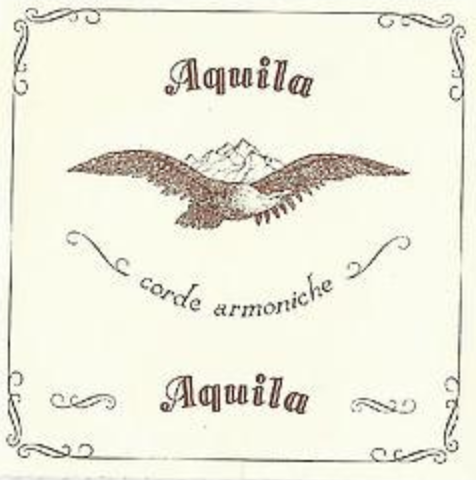 Aquila 150D x 140cm Long Wound Lute String - extra long lute string
