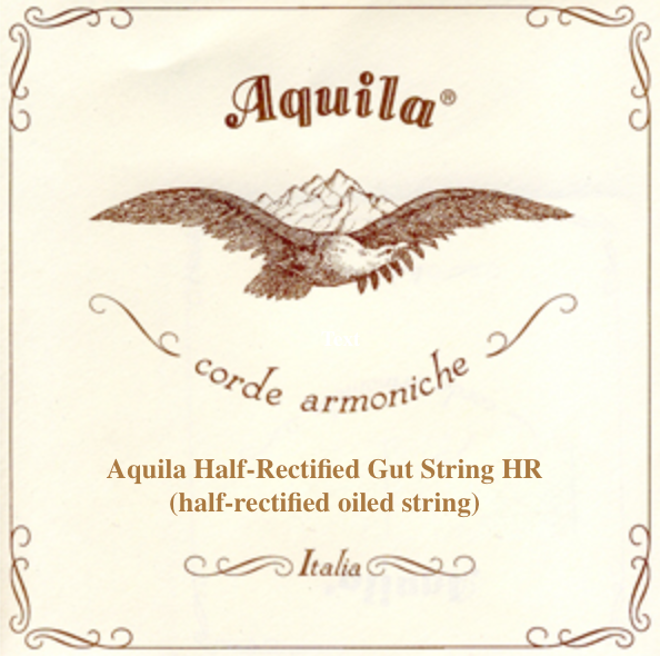 Aquila Half-Rectified Gut String HR 108 (half-rectified oiled string).