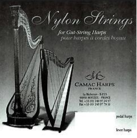 1st Octave A - Nylon string for Gut Stringed Pedal or Lever Harp - CAM6NYGH05